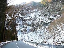 中津峡・出合「氷の壁」