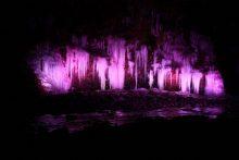大滝・三十槌の氷柱ライトアップの画像