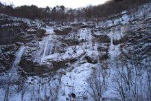 2018年の中津峡・出合「氷の滝」