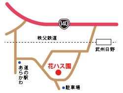 花ハス園:ホタル観賞マップ