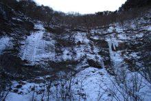 2019年の中津峡・出合「氷の滝」