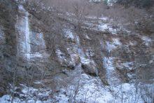 2020年の中津峡・出合「氷の壁」